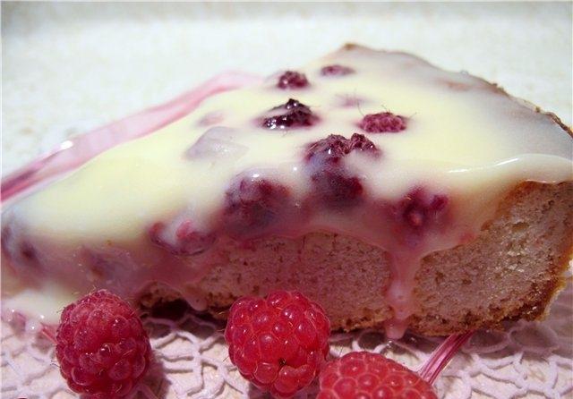 Сметанный пирог с малиной: рецепт с фото оформления