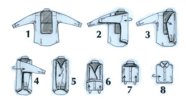 Как сложить рубашку, чтобы она не помялась, LS