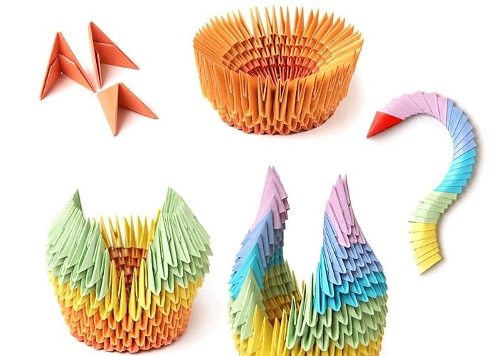 Оригами из бумаги из модулей: