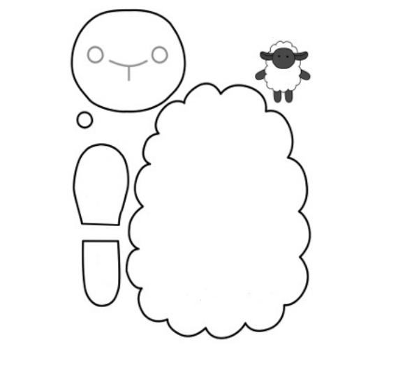 Поделки новогодние овечку сшить