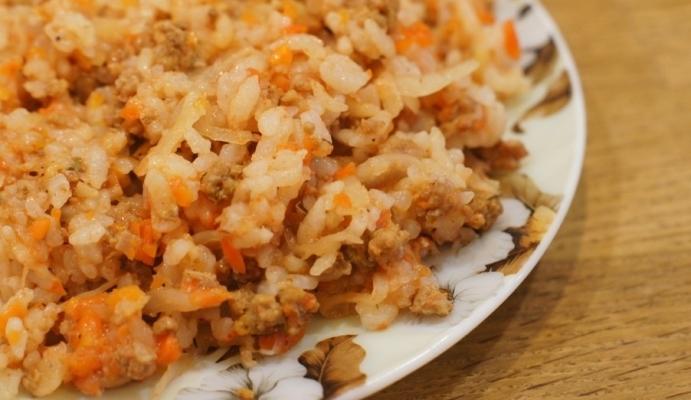 Как сделать рис с фаршем в мультиварке 92