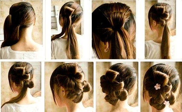 Прически цветок из волос как сделать