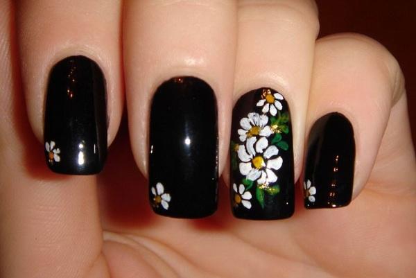 Рисунок цветка на ногтях для начинающих