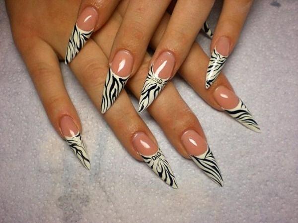 Острые ногти: особенности дизайна