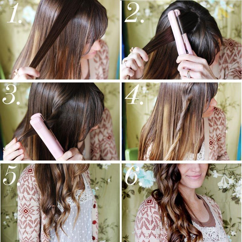 Как сделать вертикальные локоны на волосы средней длины