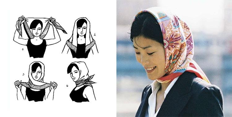 Как завязывать платок на