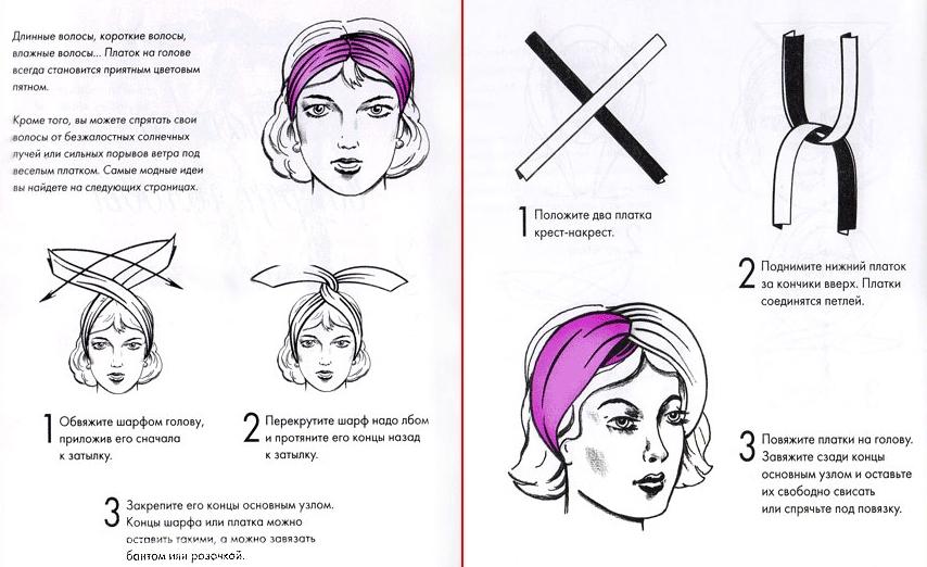 Как завязывать платок на голове