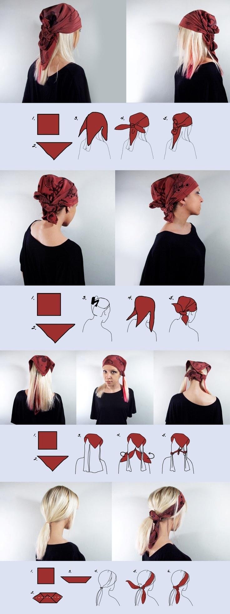 Как правильно завязать платок на голове?