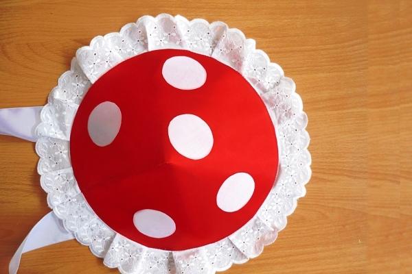 Шляпка мухомора: изготовление из картона или бумаги