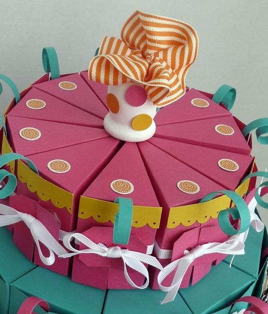 Торт с бумаги своими руками 18