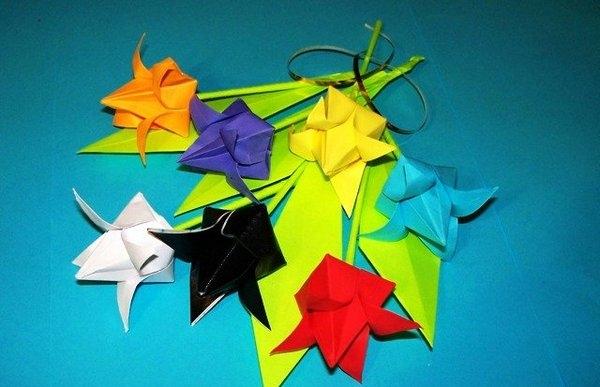 Оригами тюльпан: схема и