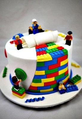 Идеи тортов для мужчин: лего