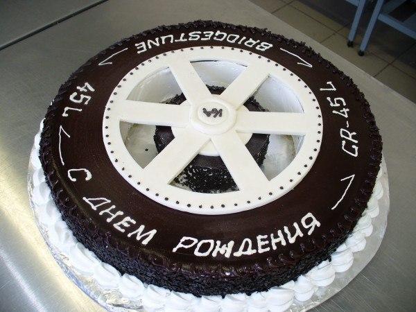 Оформление торта для мужчины: колесо