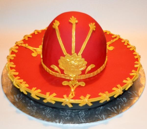 Оформление торта для мужчины: шляпа