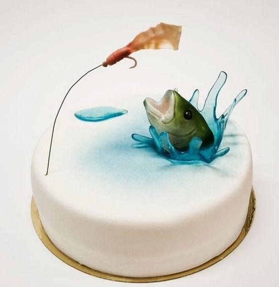 Идеи тортов для мужчин: для рыбака