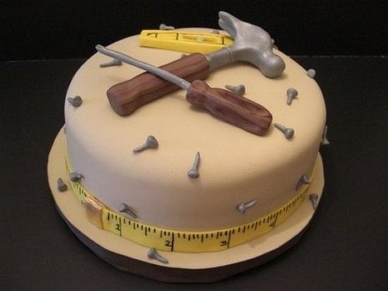 Идеи тортов для мужчин: инструменты