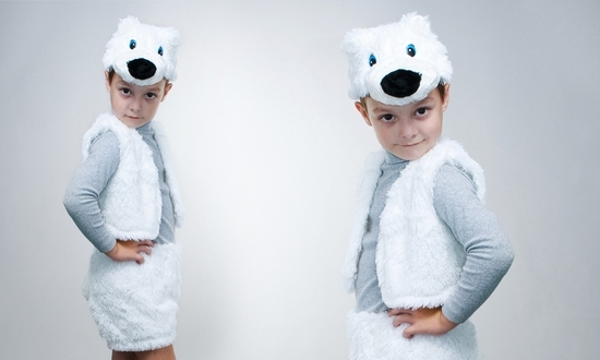 Как смастерить быстрый костюм белого медведя своими руками?