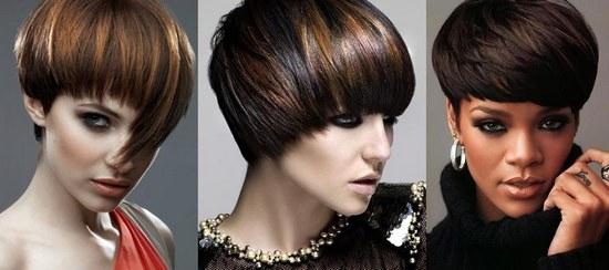 Стрижка «шапочка» на короткие волосы с челкой