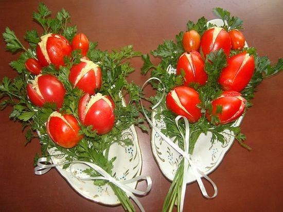 Украшение салатов: фото и описание пошагово
