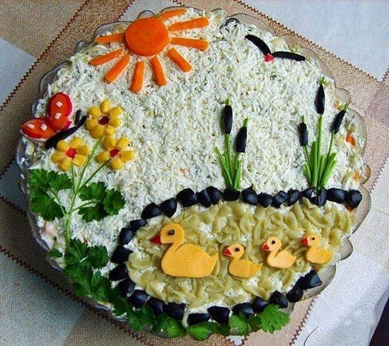 Салат украшенный - природа