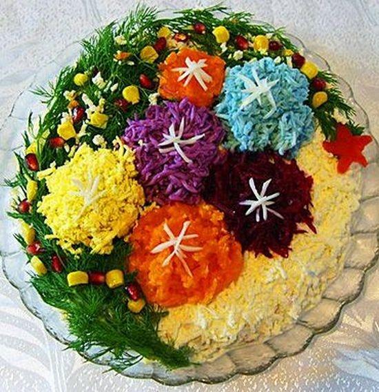 Салат украшенный - букет