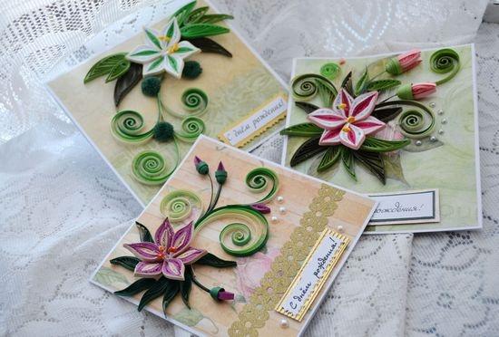 квиллинг фото открытки