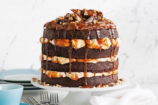 рецепт торт сникерс с карамелью