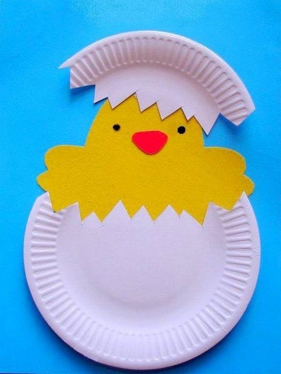 Цыпленок из одноразовой тарелки