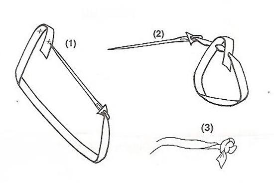 Вышивка лентами: мастер-класс бутона розы