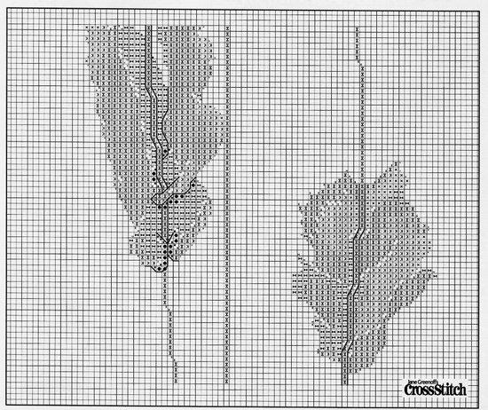 Вышивка крестом: триптих «Маки»