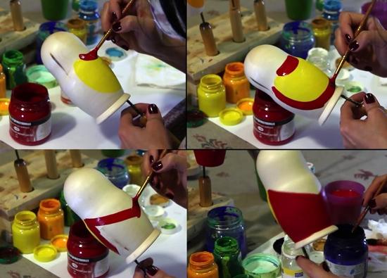 Поэтапная роспись матрешки: мастер-класс