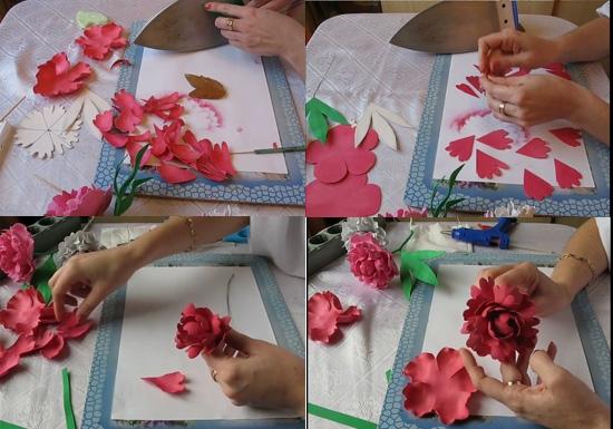 Трафарет цветка и листьев своими руками