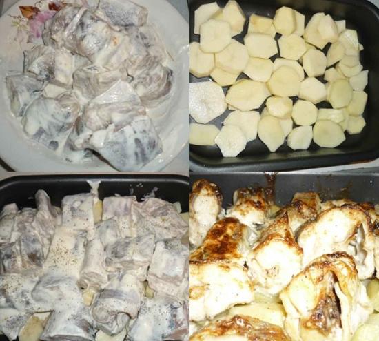 филе минтая в духовке с картошкой рецепты с фото