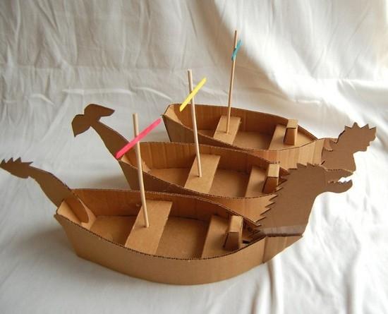 Поделки из картона кораблики 2