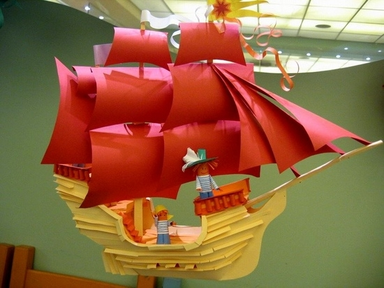 пиратский кораблик из бумаги