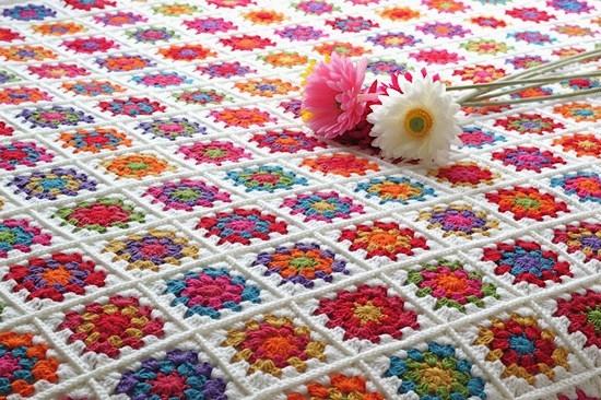 Вязание крючком. Бабушкин квадрат: