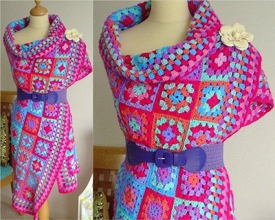 Изделия из вязания бабушкиного квадрата