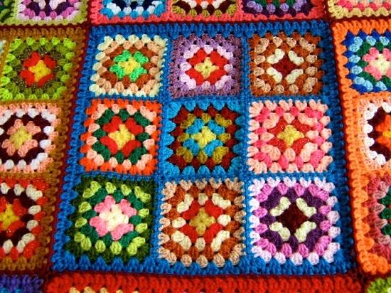 Вязание пледа из бабушкиного квадрата