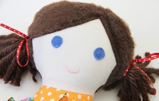 Оформление лица тряпичной куклы