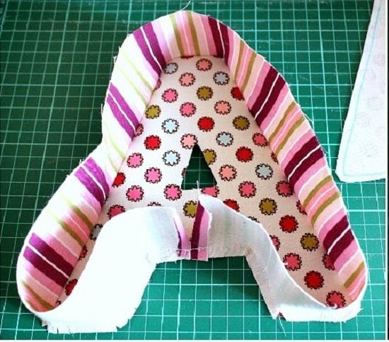 Технология пошива букв-подушек
