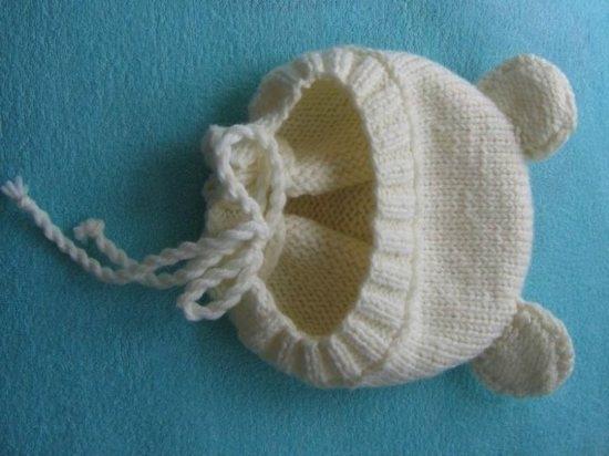 чепчик для новорожденного спицами описание процесса вязания и