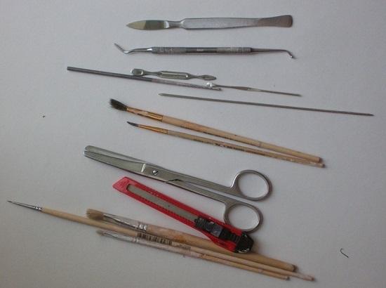 Подготовка инструментов, материалов, задумка куклы и вырисовка эскиза
