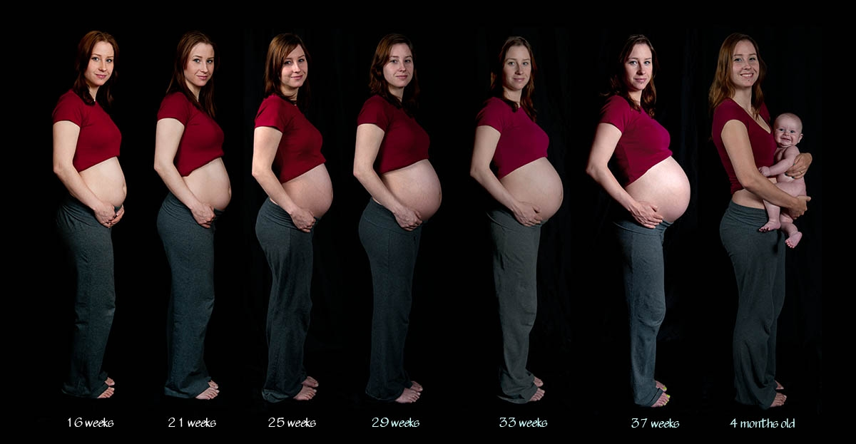 У полных при беременности ребенок