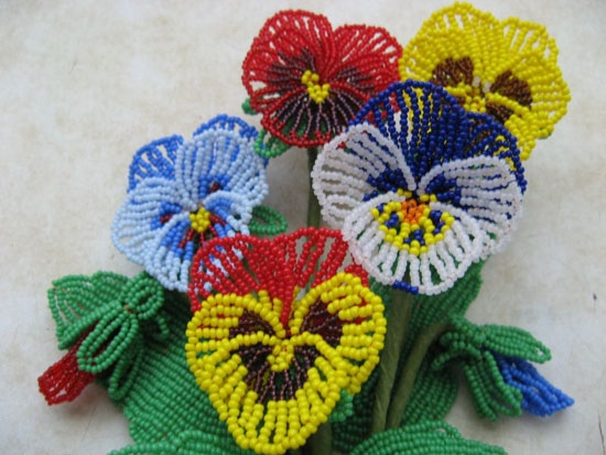 Технология выполнения тычинок и сборка цветка