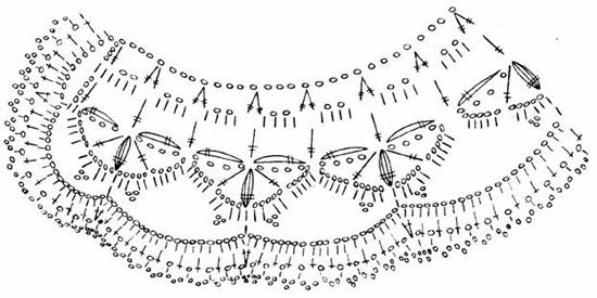 Схемы воротничков крючком для школьной формы