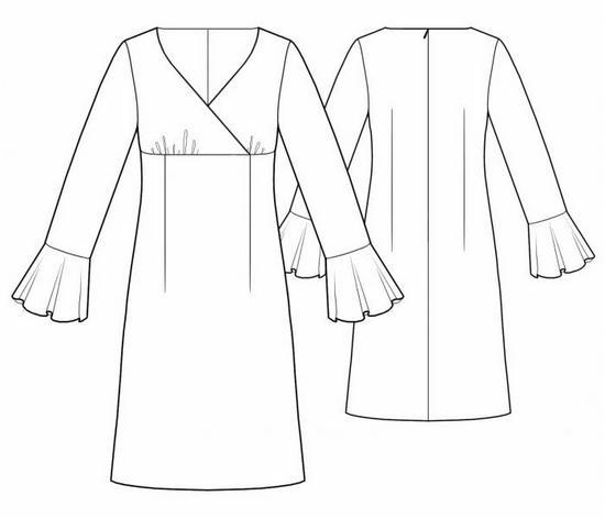 платья с завышенной талией с запахом