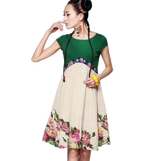 Сшить платье с поясом на талии