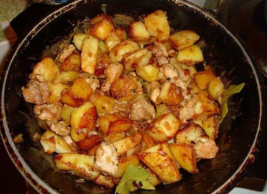 Легкий картошка с мясом