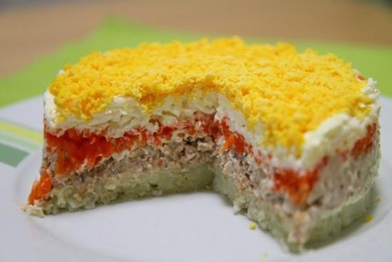 мимоза салат классический рецепт калорийность
