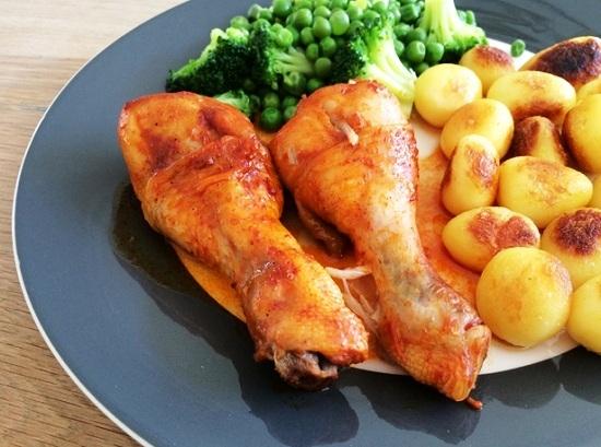 куриная голень с чесноком в духовке рецепты